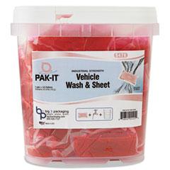 PAK-IT VEHICLE WASH & SHEET 50PK/TUB