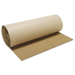 "Singleface B-Flute Corrugated Kraft, 24"" x 250 ft, Brown"