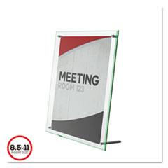 Superior Image Beveled Edge Sign Holder, Acrylic, 8 1/2 X 11 Insert, Clear
