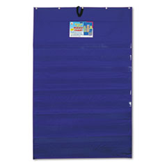 "Original ""Plus 10-Pocket Chart with Five Clear Sentence Strips, Blue, 34 x 52"