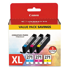 0337C005 (CLI-271XL) High-Yield Ink, Cyan/Magenta/Yellow