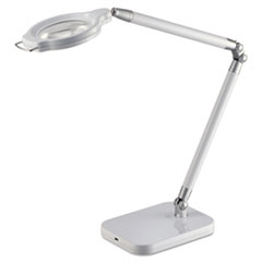 "PureOptics Summit Zoom Ultra Reach Magnifier LED Desk Light, 2 Prong, 29"", White"