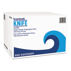 BOARDWALK KNIFE WHITE MEDIUM WEIGHT POLYPROPYLENE 1000CT