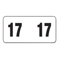 Year 2017 End Tab Folder Labels, 1 1/2w x 3/4h, White/Black, 500 Labels/Roll