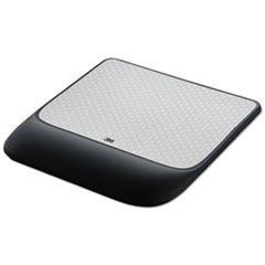 Mouse Pad w/ Precise Mousing Surface w/ Gel Wrist Rest, 8 1/2x9x3/4, Solid Color