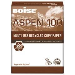 ASPEN 100% Multi-Use Recycled Paper, 92 Bright, 20lb, 8-1/2 x 11, White