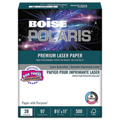 POLARIS Premium Laser Paper, 97 Bright, 28lb, 8 1/2 x 11, White, 500 Sheets