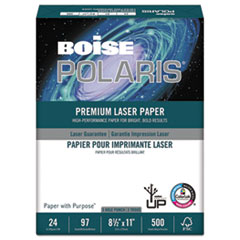 POLARIS Premium Laser Paper, 3-Hole, 97 Bright, 24lb, Letter, White. 500 Sheets