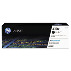 HP 410X, (CF410X) High-Yield Black Original LaserJet Toner Cartridge