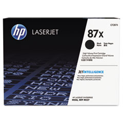 HP 87X, (CF287X) High Yield Black Original LaserJet Toner Cartridge