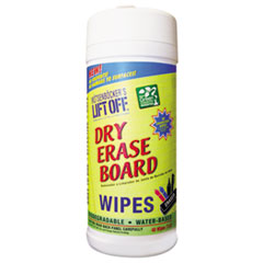 Dry Erase Cleaner Wipes, 7 x 12, 30/Canister