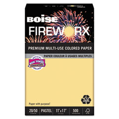 FIREWORX Colored Paper, 20lb, 11 x 17, Boomin Buff, 500 Sheets/Ream