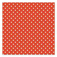 "Fadeless Designs Bulletin Board Paper, Classic Dots Red, 48"" x 50 ft."