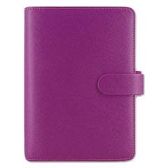 Saffiano Personal Size Organizer, Compact, 6 3/4 x 3 3/4, Raspberry, 2017