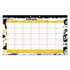 Fashion Monthly Desk Pad Calendar, 17 3/4 x 10 7/8, 2017