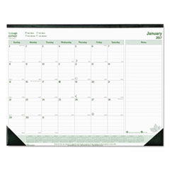 EcoLogix Monthly Desk Pad Calendar, 22 x 17, 2017