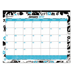 Fashion Monthly Desk Pad Calendar, 22 x 17, 2017