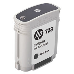 HP 728 (F9J64A) Matte Black Original Ink Cartridge, 69 mL