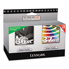 18C2249 (36XL, 37XL) High-Yield Ink, 500 Page-Yield, 2/Pack, Black