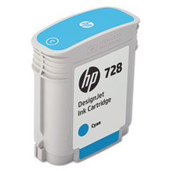 HP 728 (F9J63A) Cyan Original Ink Cartridge, 40 mL