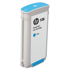 HP 728 (F9J67A) Cyan Original Ink Cartridge, 130 mL