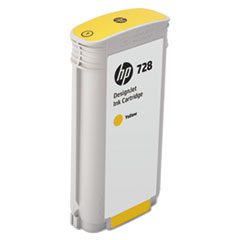 HP 728 (F9J65A) Yellow Original Ink Cartridge, 130 mL