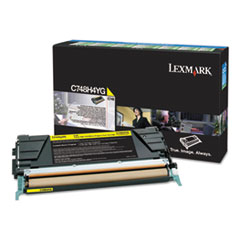 C748H1YG High-Yield Toner, 10000 Page-Yield, Yellow, TAA Compliant