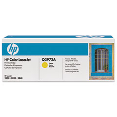 HP 123A, (Q3972A) Yellow Original LaserJet Toner Cartridge