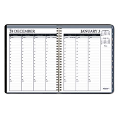 Weekly 7 Day Appointment Book, 8 1/2 x 11, Black, 2017