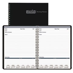 Meeting Note Planner, 6 x 9, White/Blue, 2018