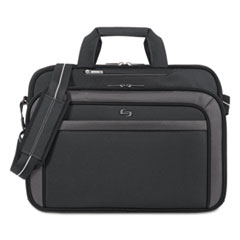 "Pro CheckFast Briefcase, 17.3"", 17"" x 5 1/2"" x 13 3/4"", Black"