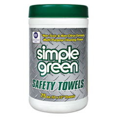 Safety Towels, 10 x 11 3/4, 75/Canister, 6 per Carton SMP13351CT