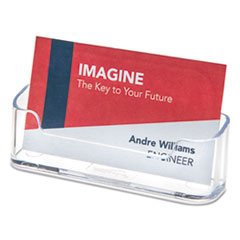 Horizontal Business Card Holder, Holds 50 2 X 3 1/2 Cards, Clear