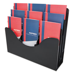 THREE-TIER DOCUMENT ORGANIZER W/DIVIDERS, 13-3/8W X 3-1/2D