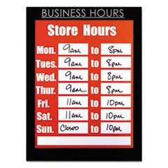 Clear Plastic Sign Holder with Business Hours Header, All-Purpose, 8 1/2 x 11