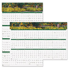 Recycled Gardens of the World Reversible/Erasable Wall Calendar, 24 x 37, 2017