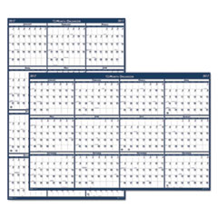 Recycled Poster Style Reversible/Erasable Yearly Wall Calendar, 32 x 48, 2017