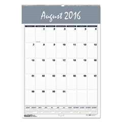 Recycled Bar Harbor Academic Monthly Wall Calendar, 22 x 31 1/4, 2016-2017