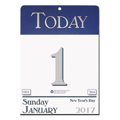 Recycled Today Wall Calendar, 6 1/2 x 9, 2017