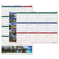 Recycled Earthscapes Nature Scene Reversible Yearly Wall Calendar, 32 x 48, 2017