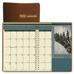 Recycled Landscapes Full-Color Monthly Planner, Ruled, 8 1/2 x 11, Brown, 2017