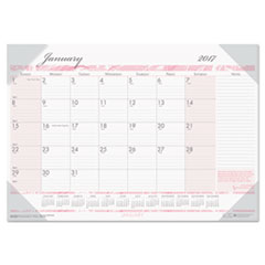 Recycled Breast Cancer Awareness Monthly Desk Pad Calendar, 18 1/2 x 13, 2018