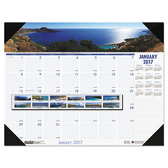 Recycled Coastlines Photographic Monthly Desk Pad Calendar, 18 1/2 x 13, 2017
