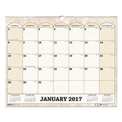 Recycled Monthly Horizontal Wall Calendar, 14 7/8 x 12, 2018