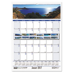 Recycled Coastlines Monthly Wall Calendar, 12 x 16 1/2, 2017
