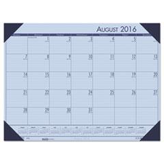 Recycled EcoTones Academic Desk Calendar, 18.5 x 13, Cordovan Corners, 2016-2017
