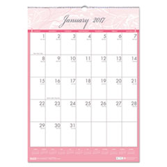 Recycled Breast Cancer Awareness Monthly Wall Calendar, 12 x 16 1/2, 2017