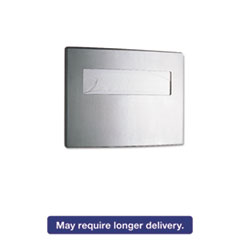 Toilet Seat Cover Dispenser, 15 3/4 x 2 1/4 x 11 1/4, Satin Stainless Steel