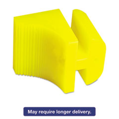 Silicone Door Stop, 3 x 1/4, Neon Yellow