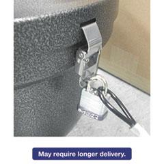 Smokers Oasis Lock Kit, 48in Plastic-Coated Steel Cable w/Lock/Key